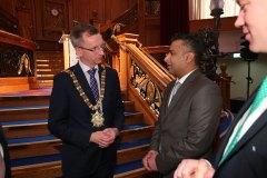 Lord Mayor of Belfast Alderman Brian Kingston